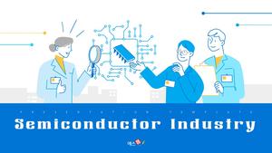 반도체 산업 (기술, 산업) PPT 템플릿