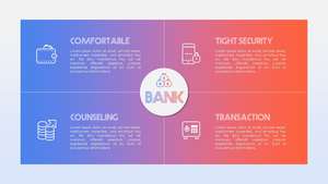 Bank (금융, 은행) PPT 템플릿