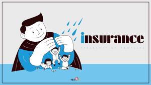 보험 (비즈니스, 생활) 일러스트 배경템플릿