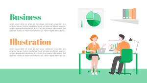비즈니스 일러스트 배경 PPT 템플릿 (Business)