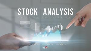 주식 분석 Stock Analysis (금융) 배경 템플릿