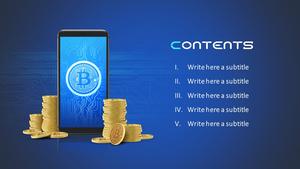 비트코인 Bitcoin 피피티 템플릿 (금융)