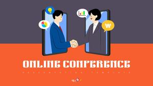 온라인 회의 (비즈니스) PPT 배경템플릿
