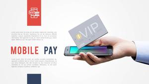 Mobile Pay (금융, IT) PPT 배경 템플릿