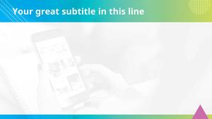 스마트폰의 활용 (IT) 피피티 배경 - 와이드