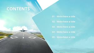 모바일 항공 예매 Powerpoint 배경