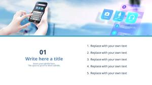 디지털 기술 (IT) 파워포인트 디자인