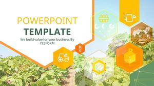 디지털 농업 (IT) Powerpoint 배경 - 와이드