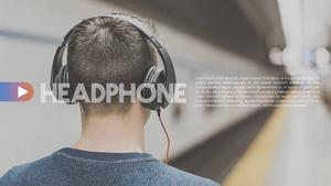 어쿠스틱 디바이스 (음악) 피피티 배경 - 와이드
