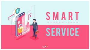 스마트 서비스 PPT 배경 템플릿 (IT)