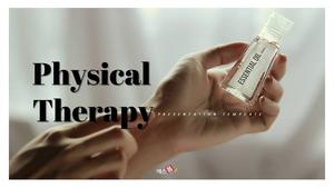 물리치료 PPT 배경템플릿 (의료) - 와이드