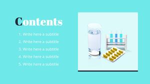 제약회사 (약학) PPT 표지 - 와이드