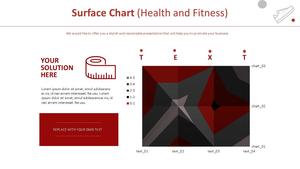 Surface 영역형 차트 (헬스&피트니스)