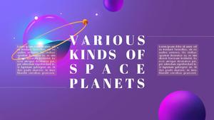신비로운 우주(과학) 피피티 테마 템플릿