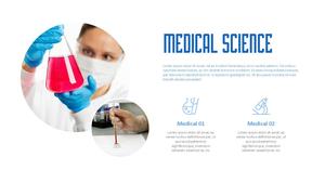 메디컬 사이언스 PPT 표지 (의학, 의료)