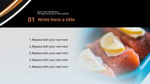 연어 요리 (음식) 파워포인트 디자인
