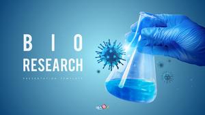 바이오 연구 (Bio Research) 피피티 템플릿