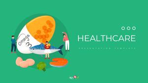 건강을 지키는 헬스케어 PPT 배경