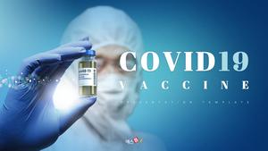코로나 바이러스 백신 (Covid-19) PPT 표지