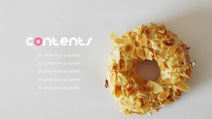 달콤한 도넛 (음식) Powerpoint 배경 - 와이드