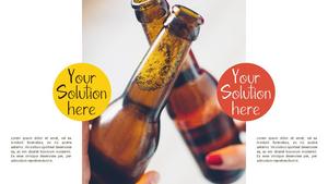 맥주(Drink a Beer) 파워포인트 테마 템플릿