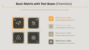 Text Boxes 기본 행렬형 Diagram (화학)