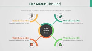 Line 행렬형 다이어그램 (얇은선)