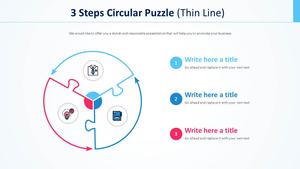 3 단계 원형 퍼즐 주기형 Diagram (얇은선)