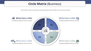 Circle 행렬형 다이어그램 (비즈니스)