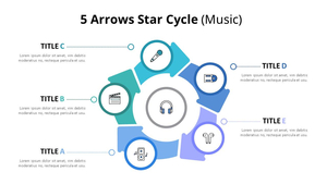 5 Arrow 별모양 주기 다이어그램 (Music)