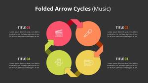 접힌 화살표 Cycle Diagram (Music)