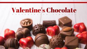 발렌타인 초콜릿 (Chocolate) 피피티 배경