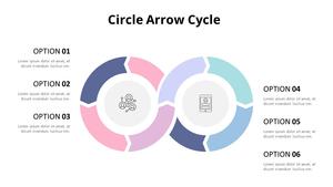 원형 화살표 Cycle Diagram