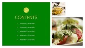 샐러드(Salad) 파워포인트 테마 템플릿