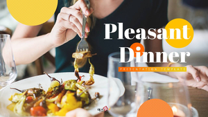 즐거운 저녁 식사 (Food) Powerpoint 배경 - 와이드