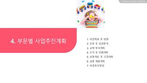 [2021년] 아동용품 도소매업 자금조달용 사업계획서 #20