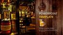 한가한 맥주 펍 (주류) 파워포인트 와이드형 디자인