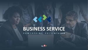 비즈니스 서비스(Business Service) 파워포인트 템플릿 #1