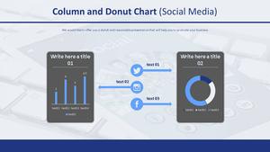 세로 막대형 & 도넛형 혼합차트 (소셜미디어)