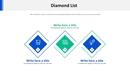 3 다이아몬드 목록형 다이어그램