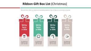 리본 선물상자 List Diagram (크리스마스)