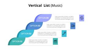 Vertical 목록 다이어그램 (Music)