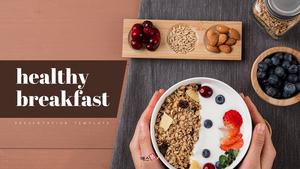 건강한 아침 PPT 배경템플릿 (Food)
