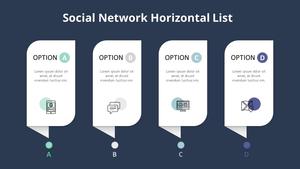 Social Network 수평 리스트 다이어그램
