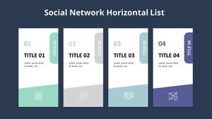 소셜네트워크 목록형 다이어그램