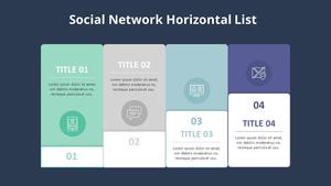 소셜네트워크 Horizontal List