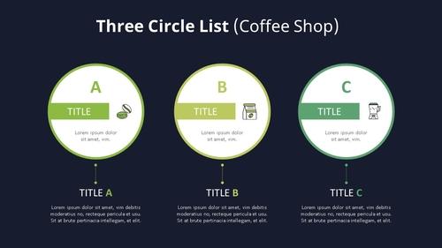 3 Circle 목록형 다이어그램 (Coffee Shop) - 섬네일 2page