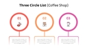 Three Circle 목록형 다이어그램 (Coffee Shop)