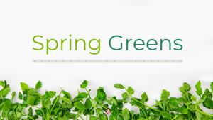 봄 채소 (Spring Greens) 피피티 배경