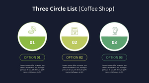 3 원형 List Diagram (Coffee Shop)
